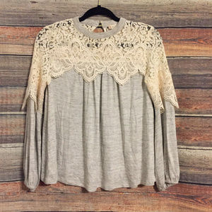 Altar'd state crochet keyhole sweater